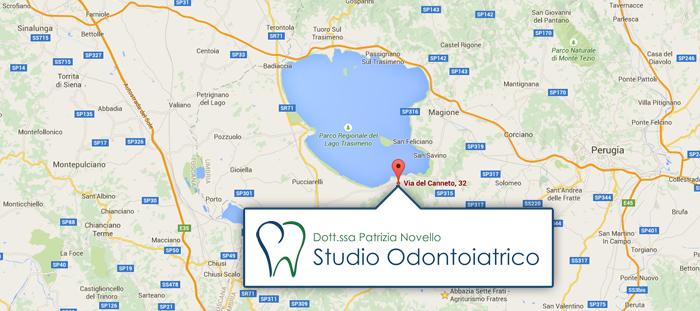 mappa indicazioni stradali studio odontoiatrico